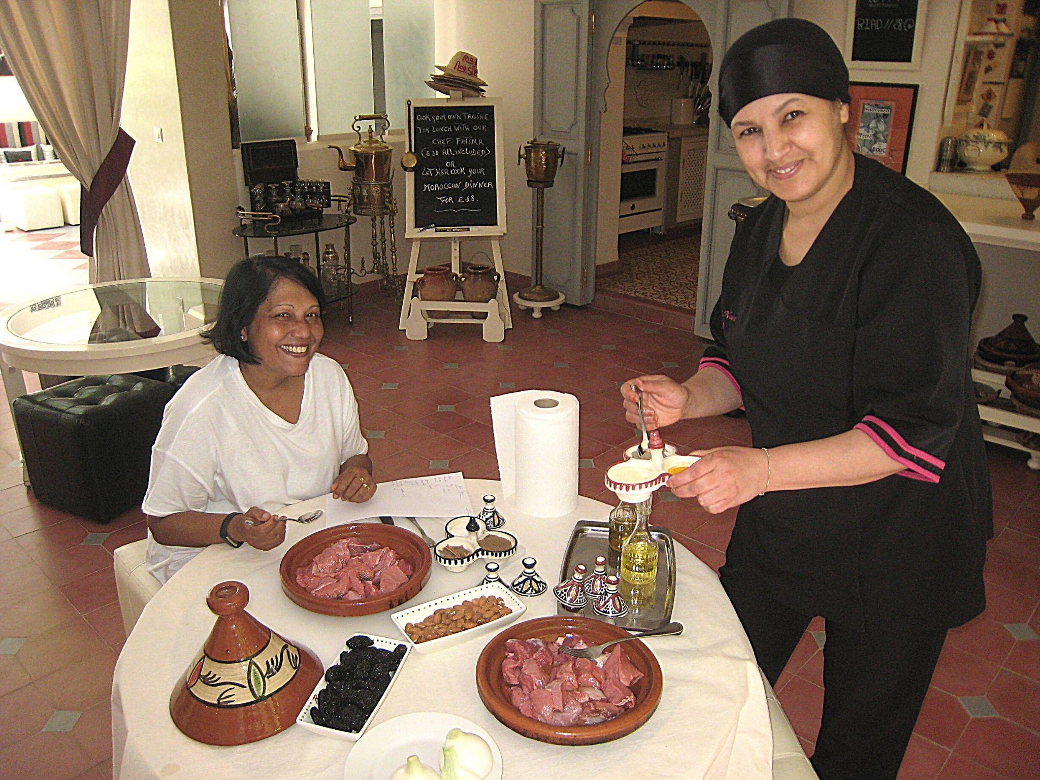 Moroccan cooking classes at Riad Noos Noos Marrakech